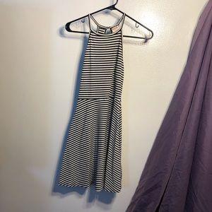 B&W Striped Skater Dress Mossimo Ribbed Sundress